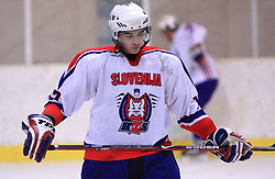 Bostjan Golicic at friendly ice-hockey game between Slovenian National Team U20 and HKMK Bled, before World Championship Division 1, Group A in Herisau, Switzerland, on December 11, 2008, in Bled, Slovenia. (Photo by Vid Ponikvar / Sportida)