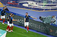 Olivier GIROUD (FRA) celebrated it goal scored with Nabil FEKIR (FRA), Djibril SIDIBE (FRA), Kylian MBAPPE (FRA) during the FIFA Friendly Game football match between France and Republic of Ireland on May 28, 2018 at Stade de France in Saint-Denis near Paris, France - Photo Stephane Allaman / ProSportsImages / DPPI