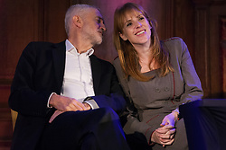 London, UK. 20th November, 2018. Leader of the Opposition Jeremy Corbyn and Shadow Education Secretary Angela Rayner attend a March for Education rally to protest against crises involving education funding, recruitment, staff retention and remuneration.