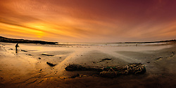 A photographer records the sunset on the beach at Balivanich, Benbecula, Outer Hebrides, Scotland<br /> <br /> (c) Andrew Wilson | Edinburgh Elite media