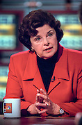 Senator Dianne Feinstein (D-CA) discusses the ongoing scandal involving President Clinton during NBC's Meet the Press September 27, 1998 in Washington, DC.