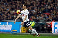 Ben Davies of Tottenham Hotspur in action. Premier league match, Tottenham Hotspur v Stoke City at Wembley Stadium in London on Saturday 9th December 2017.<br /> pic by Steffan Bowen, Andrew Orchard sports photography.