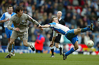 Fotball<br /> FA-cup 2005<br /> 5. runde<br /> Blackburn v Leicester<br /> 13. mars 2005<br /> Foto: Digitalsport<br /> NORWAY ONLY<br /> Paul Dickov of Blackburn battles for possession with Patrick McCarthy of Leicester