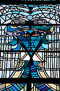Stained glass windows by Jean Cocteau at the Église Saint Maximin, Metz, France © Rudolf Abraham