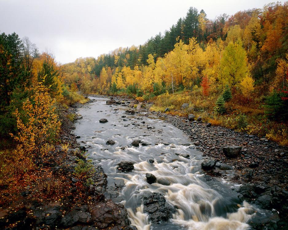 Copper Falls State Park, Wisconsin, September, 1986.