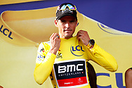 Podium, Greg Van Avermaet (BEL - BMC) Yellow jersey, during the 105th Tour de France 2018, Stage 7, Fougeres - Chartres (231km) on July 13th, 2018 - Photo Luca Bettini / BettiniPhoto / ProSportsImages / DPPI