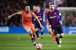 March 13, 2019 - Barcelona, Catalonia, Spain - March 13, 2019 - Barcelona, Spain - Uefa Champions League 1/8 of final second leg, FC Barcelona v Olympique de Lyon: Lionel Messi of FC Barcelona dribbles Marcal of Olympic Lyonnais. (Credit Image: © Marc Dominguez/ZUMA Wire)