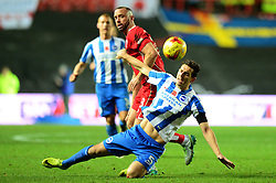Aaron Wilbraham of Bristol City challenges for the ball with Lewis Dunk of Brighton & Hove Albion - Mandatory by-line: Dougie Allward/JMP - 05/11/2016 - FOOTBALL - Ashton Gate - Bristol, England - Bristol City v Brighton and Hove Albion - Sky Bet Championship