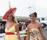 29/07/2017  Sisters Gabrielle and  Barbara Dunne from Oranmore on the third day of the Galway Races summer Festival  Plate day .   Photo:Andrew Downes, xposure