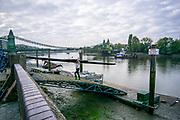 Hammersmith, Greater London, UK., 18th October 2020, general view,   Auriol Kensignton Boat Club Ramp,  Hammersmith Bridge, COVID-19,  [Mandatory Credit: Pete Spurrier/Intersport Images],