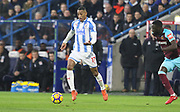 Huddersfield Town's Rajiv van La Parra during the Premier League match between Huddersfield Town and West Ham United at the John Smiths Stadium, Huddersfield, England on 13 January 2018. Photo by Paul Thompson.