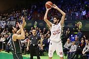 Davide Pascolo<br /> EA7 Emporio Armani Milano - Cantine Due Palme Brindisi<br /> Poste Mobile Final Eight F8 2017 <br /> Lega Basket 2016/2017<br /> Rimini, 16/02/2017<br /> Foto Ciamillo-Castoria / M. Brondi