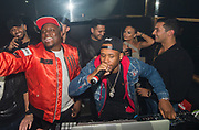 EXCLUSIVE<br /> Floyd Mayweather on his UK tour ,Chantelle Connelly enjoys time in the DJ booth listening to DJ Bling inside Playground nightclub in Liverpool.<br /> ©Peter Powell/Exclusivepix Media