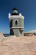 High atop the walls of Morro Castle, this lighthouse guides ships into San Juan Harbor.