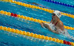 October 5, 2018 - Budapest, Hungary - Hosszu Katinka of Hungary in the Womens 400m Individual Medley on day two of the FINA Swimming World Cup held at Duna Arena Swimming Stadium on Okt 05, 2018 in Budapest, Hungary. (Credit Image: © Robert Szaniszlo/NurPhoto/ZUMA Press)