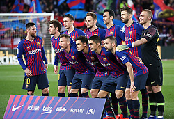 January 30, 2019 - Barcelona, Spain - FC Barcelona team during the match between FC Barcelona and Sevilla FC, corresponding to the secong leg of the 1/4 final of the spanish cup, played at the Camp Nou Stadium, on 30th January 2019, in Barcelona, Spain. Photo: Joan Valls/Urbanandsport /NurPhoto. (Credit Image: © Joan Valls/NurPhoto via ZUMA Press)