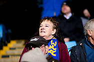 AFC Wimbledon fan during the EFL Sky Bet League 1 match between Scunthorpe United and AFC Wimbledon at Glanford Park, Scunthorpe, England on 28 February 2017. Photo by Simon Davies.