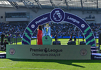 The Premier League champions Trophy<br /> <br /> Photographer David Horton/CameraSport<br /> <br /> The Premier League - Brighton and Hove Albion v Manchester City - Sunday 12th May 2019 - The Amex Stadium - Brighton<br /> <br /> World Copyright © 2019 CameraSport. All rights reserved. 43 Linden Ave. Countesthorpe. Leicester. England. LE8 5PG - Tel: +44 (0) 116 277 4147 - admin@camerasport.com - www.camerasport.com