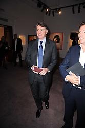 LORD MANDELSON at the Krug Mindshare auction held at Sotheby's, New Bond Street, London on 1st November 2010.