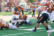 AUSTIN, TX - SEPTEMBER 26:  D'Onta Foreman #33 of the Texas Longhorns breaks free against the Oklahoma State Cowboys during the 4th quarter on September 26, 2015 at Darrell K Royal-Texas Memorial Stadium in Austin, Texas.  (Photo by Cooper Neill/Getty Images) *** Local Caption *** D'Onta Foreman