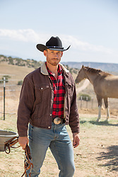hot cowboy on a ranch