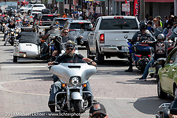 Main Street during Daytona Beach Bike Week, FL. USA. Saturday, March 16, 2019. Photography ©2019 Michael Lichter.