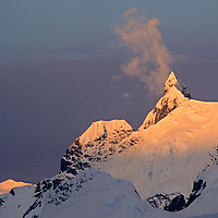 A sub summit of Pilcher Peak, known by some as Wiltsie's Peak, near the Detroit Plateau on the Antarctic Peninsula.