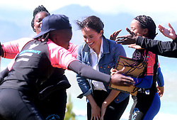 The Duchess of Sussex during a visit to Waves for Change at Monwabisi Beach in Cape Town, on day two of their tour of Africa.