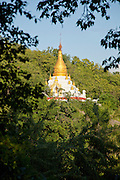 A pagoda in the hills at Sagaing, Myanmar