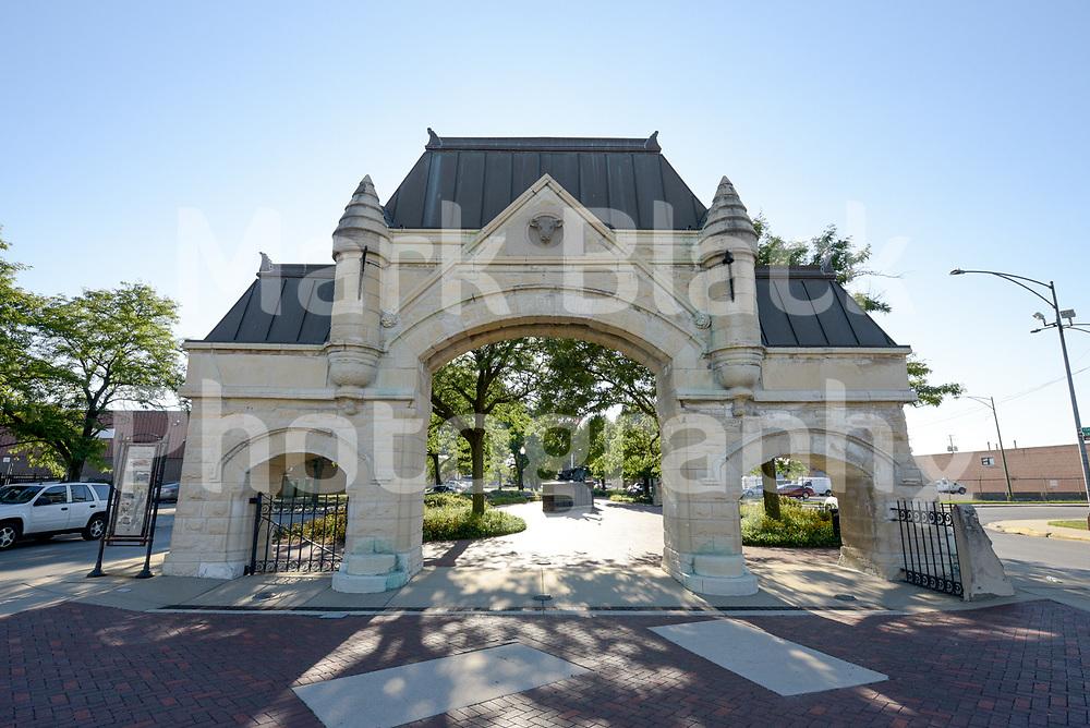 Historic Chicago Union Stockyard Gate on Wednesday, Aug. 19, 2020.  Photo by Mark Black