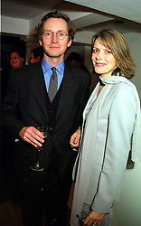 The EARL & COUNTESS OF WOOLTON, she is his 2nd wife, at a party in London on 23rd November 1999.MZG 75