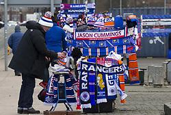 Scarves for sale before the Ladbrokes Scottish Premiership match at Ibrox Stadium, Glasgow.