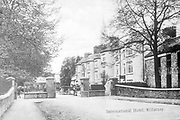 A picture of Railway Road and the International Hotel Killarney taken circa 1900.<br /> Picture from the macmonagle collection