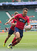 Twickenham, United Kingdom. 2nd June 2018, HSBC London Sevens Series. Game 5, Pool A, Darcy GRAHAM, taps the ball on during the New Zealand vs Scotland, played at the RFU Stadium, Twickenham, England, <br /> <br /> <br /> <br /> © Peter SPURRIER/Alamy Live News