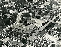 1925 Aerial of Cheremoya School at Franklin Ave. & Beachwood Ave.