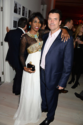 Singer SINITTA and NICK COWELL brother of Simon Cowell at a party to launch the Autumn/Winter 2013 Candy Magazine held at The Saatchi Gallery, Duke of York's HQ, King's Road, London on 15th October 2013.