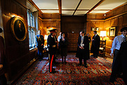 Oxford, GREAT BRITAIN., Reception In the hall, Royal visit to Magdalen College, by Her Majesty the Queen, Royal Highness the Duke of Edinburgh, Thursday 27/11/2008, [Mandatory Credit Peter Spurrier]