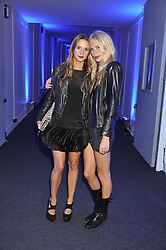 Left to right, AMANDA CROSSLEY and POPPY DELEVINGNE  at a party hosted by Rimmel London to celebrate the 10 year partnership with Kate Moss held at Battersea Power Station, London SW8 on 15th September 2011.