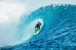 Aug 12, 2017 - teahupo'o, Tahiti, French Polynesia - Adrian Buchan (AUS) placed 1 st in Heat 11 of Round Threeat Billabong Pro Tahiti 2017 (Credit Image: © WSL/POULLENOT/World Surf League via ZUMA Wire)