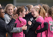 Houston celebrates after beating Collierville 1-0 in the Class AAA state soccer championship Saturday at Richard Siegel Soccer Complex in Murfreesboro, Tenn.