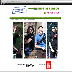 All photos for  animated slide shows and stills on the webpage of the Barcelona bike messenger company iMensajeros.  Taken in 2008.