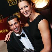 NLD/Amsterdam/20121218 - NOC/NSF Sportgala 2012, Marc de Hond en partner Remona Franssen