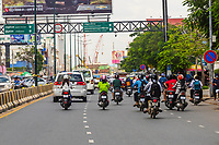 Street scene, Phnom Penh, Cambodia.