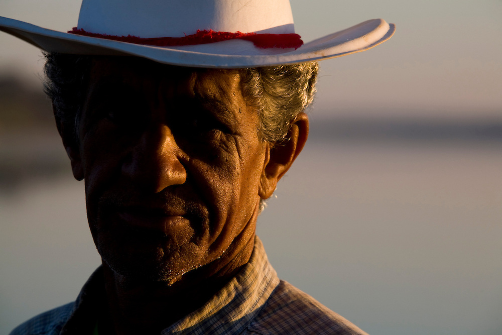 Ibiai_MG, Brasil...Retrato de um pescador do Rio Sao Francisco em Ibiai, Minas Gerais...A fisherman in Sao Francisco river in Ibiai, Minas Gerais...Foto: LEO DRUMOND /  NITRO