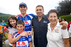 Winner Blaz Jarc and his family at Slovenian National Championships in Road cycling, 178 km, on June 28 2009, in Mirna Pec, Slovenia. (Photo by Vid Ponikvar / Sportida)