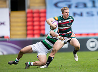 Rugby Union - 2020 / 2021 ER Challenge Cup - Quarter-Final - Leicester Tigers  vs Newcastle Falcons - Welford Road<br /> <br /> Harry Potter of Leicester Tigers is tackled by Ben Stevenson of Newcastle Falcons<br /> <br /> Credit : COLORSPORT/BRUCE WHITE