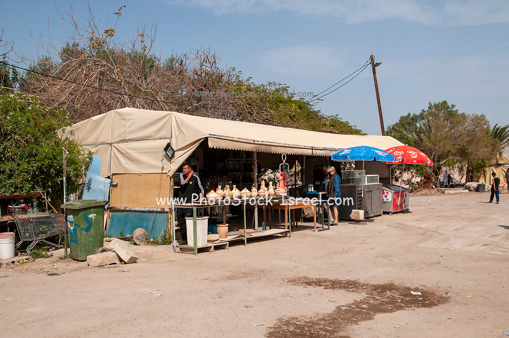 Souvenir Stall at Nabi Musa (Nebi Musa) is the name of a site in the Judean desert, West Bank, Palestine that popular Palestinian folklore associates with Moses.