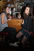 STACEY MCDERMOT; PHOEBE PHILLIPS, The Omnivore hosts the third Hatchet  Job of the Year Award. Sponsored by the Fish Society.  The Coach and Horses. Greek st. Soho. London. 11 February 2014.