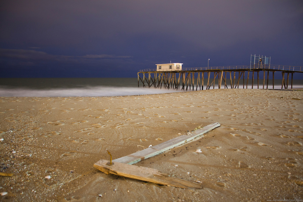 Debris on the beach, Belmar, NJ.
