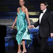 NLD/Hilversum/20080301 - Finale Idols 2008, presentatoren Wendy van Dijk en Martijn Krabbe